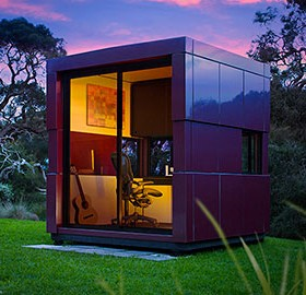 Prefab garden office harwyn for Prefabricated garden rooms